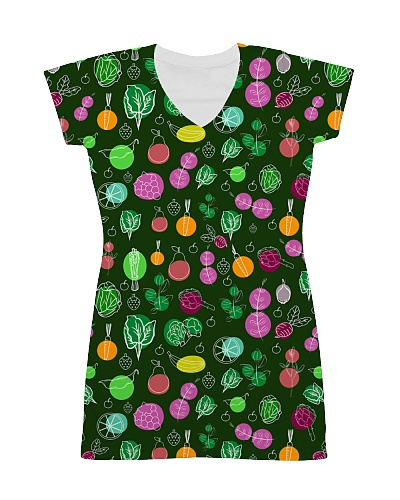 Vegetable All Over Dress