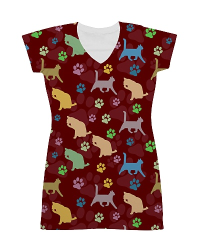 Cat Pattern All Over T-shirt