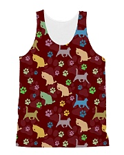 Cat Pattern All Over T-shirt All-over Unisex Tank thumbnail