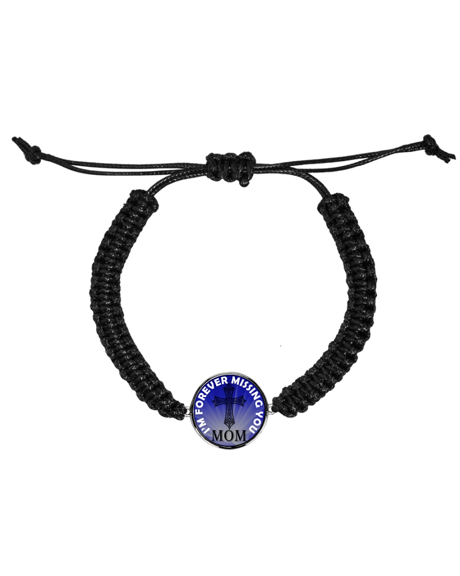 I'm Forever Missing You Mom Cord Circle Bracelet