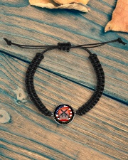 Great Father Cord Circle Bracelet aos-bracelet-cord-front-lifestyle-4