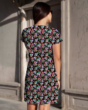 Cute Small Colorful Flowers All-over Dress aos-dress-back-lifestyle-1