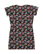 Cute Small Colorful Flowers All-over Dress back