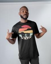 Australian Shepherd Retro Style Classic T-Shirt apparel-classic-tshirt-lifestyle-front-32