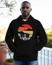Australian Shepherd Retro Style Hooded Sweatshirt apparel-hooded-sweatshirt-lifestyle-front-20