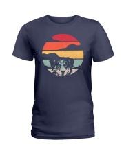 Australian Shepherd Retro Style Ladies T-Shirt thumbnail