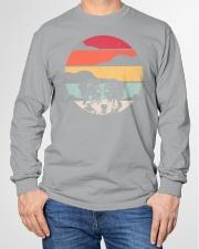 Australian Shepherd Retro Style Long Sleeve Tee garment-tshirt-longsleeve-front-01