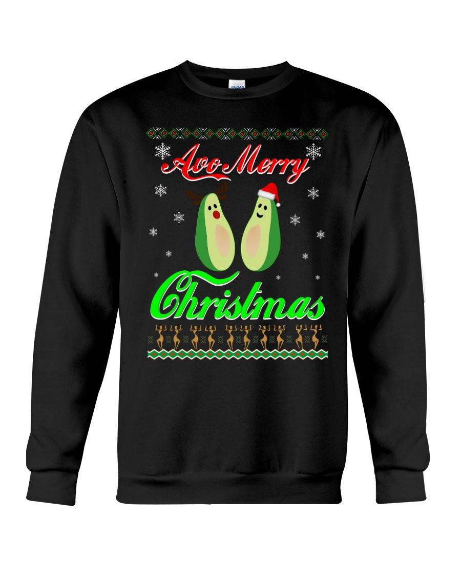 Avocado Ugly Christmas Sweater Crewneck Sweatshirt