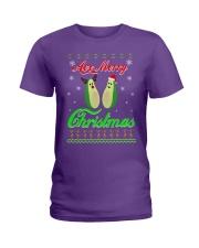Avocado Ugly Christmas Sweater Ladies T-Shirt thumbnail