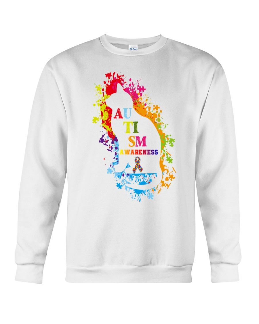 Autism Awareness For Cat Lovers T-shirt Crewneck Sweatshirt