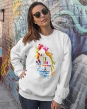 Autism Awareness For Cat Lovers T-shirt Crewneck Sweatshirt lifestyle-unisex-sweatshirt-front-3