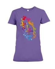 Autism Awareness For Cat Lovers T-shirt Premium Fit Ladies Tee thumbnail