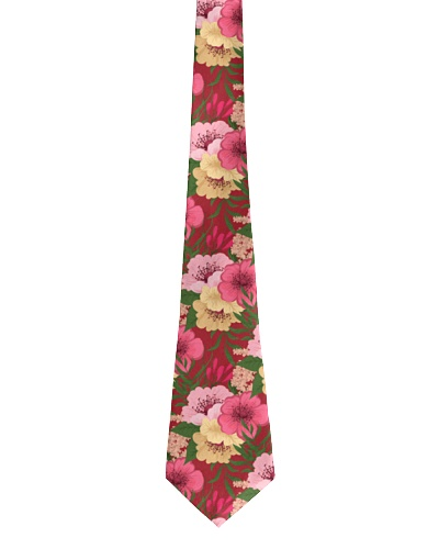 Seamless Floral Pattern Tie