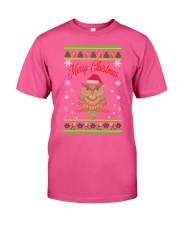 Owl Merry Christmas Hoodies Classic T-Shirt thumbnail