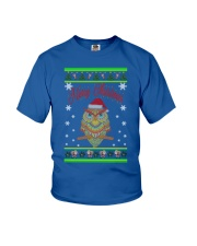 Owl Merry Christmas Hoodies Youth T-Shirt thumbnail