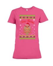 Owl Merry Christmas Hoodies Premium Fit Ladies Tee thumbnail