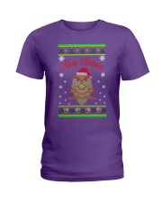 Owl Merry Christmas Hoodies Ladies T-Shirt thumbnail