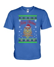 Owl Merry Christmas Hoodies V-Neck T-Shirt thumbnail