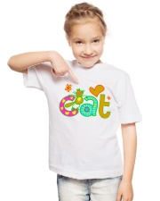 cat t-shirt for kids Youth T-Shirt lifestyle-youth-tshirt-front-2