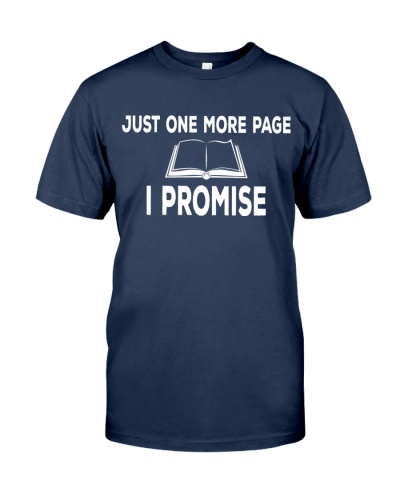 Just One More Page T-shirt
