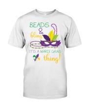 Beads Bling Mardi Gras Thing Classic T-Shirt front