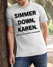 Simmer Down Karen Classic T-Shirt apparel-classic-tshirt-lifestyle-front-51