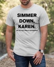 Simmer Down Karen Classic T-Shirt apparel-classic-tshirt-lifestyle-front-53