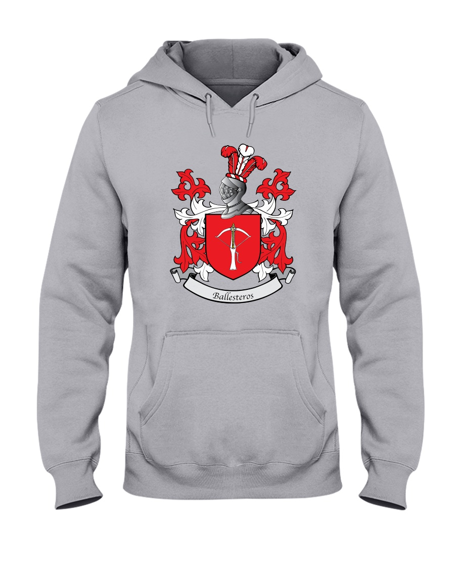 Ballesteros Family Crest Hooded Sweatshirt