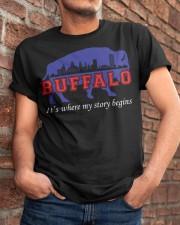Buffalo Where My Story Begins Classic T-Shirt apparel-classic-tshirt-lifestyle-26
