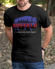 Buffalo Where My Story Begins Classic T-Shirt apparel-classic-tshirt-lifestyle-front-52