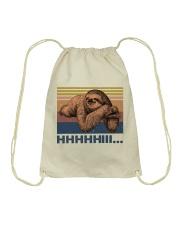 HHHHiii Funny Sloth Drawstring Bag thumbnail