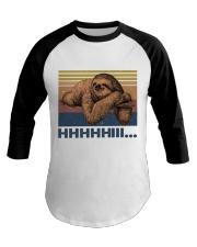 HHHHiii Funny Sloth Baseball Tee thumbnail