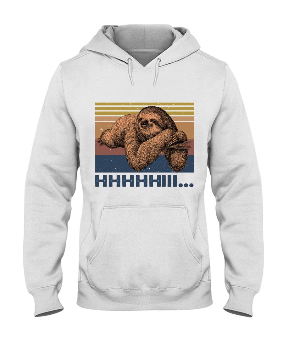HHHHiii Funny Sloth Hooded Sweatshirt