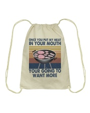 Once You Put My Meat Funny Drawstring Bag thumbnail