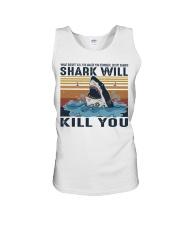 Shark Will Kill You Unisex Tank thumbnail