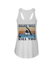Shark Will Kill You Ladies Flowy Tank thumbnail