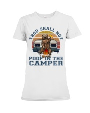 Thou Shall Not Poop IN The Camper Premium Fit Ladies Tee thumbnail