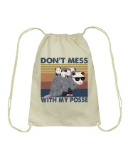 Dont Mess With My Posse Drawstring Bag thumbnail