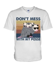 Dont Mess With My Posse V-Neck T-Shirt thumbnail