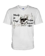 What Feelings Sound Like V-Neck T-Shirt thumbnail