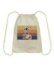 Beer And Alien Drawstring Bag thumbnail