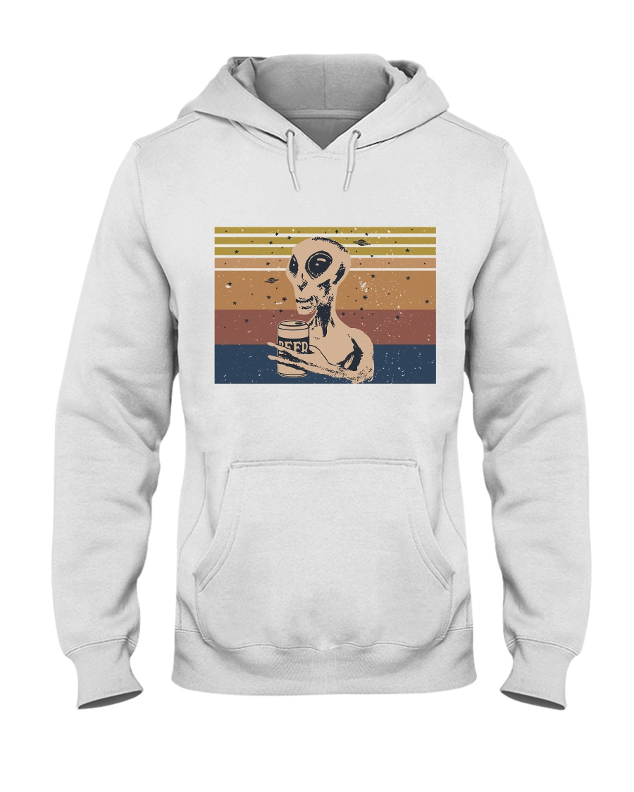 Beer And Alien Hooded Sweatshirt