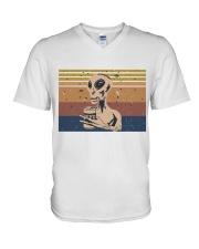 Beer And Alien V-Neck T-Shirt thumbnail