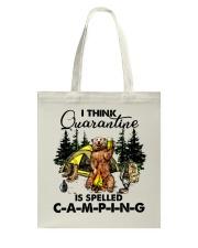 I Think Quarantine Tote Bag thumbnail
