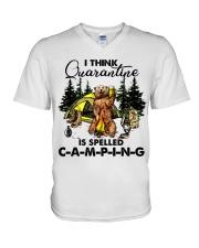 I Think Quarantine V-Neck T-Shirt thumbnail