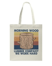 Morning Wood Funny Shirt Tote Bag thumbnail