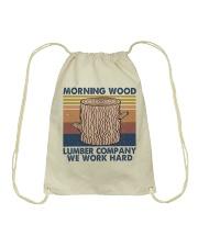 Morning Wood Funny Shirt Drawstring Bag thumbnail