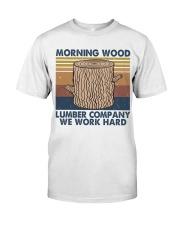 Morning Wood Funny Shirt Classic T-Shirt thumbnail