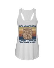 Morning Wood Funny Shirt Ladies Flowy Tank thumbnail