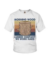 Morning Wood Funny Shirt Youth T-Shirt thumbnail